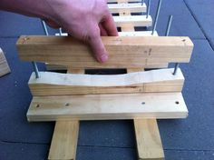 Picture of Bolt longboard press - Building the rib clamps