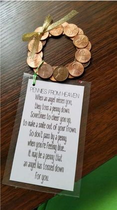 Pennies from heaven wreath