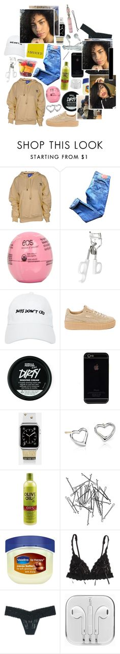 """""""— my b'itch is bad and boujee , cooking up dope with an uzi ."""" by babeprincessas ❤ liked on Polyvore featuring adidas, Levi's, Eos, e.l.f., Nasaseasons, Forever 21, Puma, Casetify, Blue Nile and Organic Root Stimulator"""