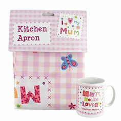 "Personalised ""Mum You're Lovely"" Mug and Apron Set - FREE PRINT - Perfect for Mother's Day, Mum, Grandma, Gran, Step-Mum, Birthday, Christmas by PMC, http://www.amazon.co.uk/dp/B00INXTFS4/ref=cm_sw_r_pi_dp_6OSmtb0AWE30Z"