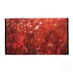 abstract in red iPad folio cover