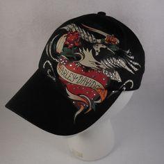 Harley-Davidson Women s Hat Adjustable Strap Back Cap American Eagle  Rhinestones  HarleyDavidson 9c5eee0edecc