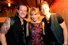 November 6: Tyler Hubbard and Brian Kelly of Florida Georgia Line and Taylor Swift hang out at the Big Machine Label Group CMA Awards after party in Nashville, Tennessee. Check out photos from the CMA awards here!