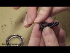 How to Bead Weave a Toggle Clasp