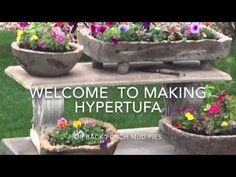 Giant Hypertufa Snail! Recipes and Tips for Hypertufa Planters, Troughs and Sculpture - YouTube