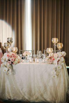 Wedding Reception Tablescape Centerpiece Flower Decor Vallentyne Photography via CeremonyBlog.com
