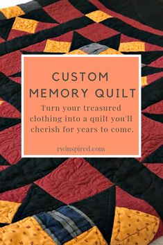 I understand how personal a memory quilt is, so I take great care in constructing a one of a kind piece that honors the treasured clothing you've entrusted to me. Beginner Quilt Patterns, Quilting For Beginners, Quilting Tutorials, Sewing For Beginners, Quilting Patterns, Quilting Ideas, Machine Quilting Designs, Custom Quilts, Shirt Quilt