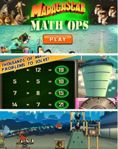 Madagascar Math Ops Free App - fun math facts practice app and it is FREE. #kidsapps #math #game #elementary #free