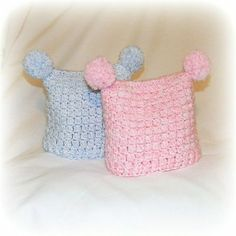 Free Crochet Square pom-pom jester hat Pattern... Okay, sis. Visualize with me. Giant Pom pons (bigger than these) on the ends, gray and navy stripes, with a monster face?