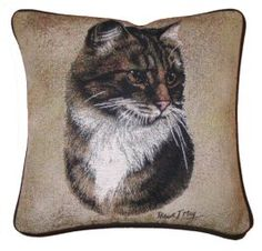 Brown Tabby Cat Tapestry Cushion Cat Merchandise, Cat Cushion, Kitty Games, Tapestry Design, Cat Design, Cat Gifts, How To Stay Healthy, Cat Lovers, Cushions