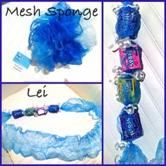 lei made from mesh sponge. If you unravel mesh spo… Money Lei, Money Origami, 8th Grade Graduation, Graduation Leis, Homemade Gifts, Diy Gifts, Hawaiian Crafts, Hawaiian Leis, Fun Crafts