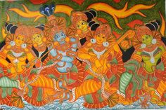 Mural Painting Thrissur, kerala, india klairvoyant craftastic, craft & arts