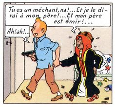 tintinfesse.jpg • Tintin and Abdullah • the land of black gold • Tintin, Herge j'aime