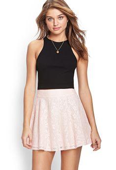 Crocheted Lace A-Line Skirt   FOREVER21 #SummerForever