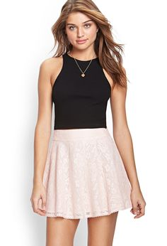 Crocheted Lace A-Line Skirt | FOREVER21 #SummerForever