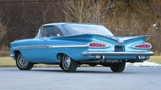 Vintage Cars 1959 Chevrolet Impala Coupe, 348 Tri-Power W head Chevrolet Impala, Teen Driver, Best Car Insurance, Lifted Chevy Trucks, Performance Cars, Dodge Charger, Old Cars, Vintage Cars, Classic Cars