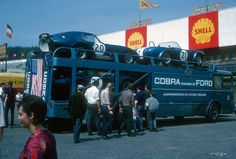 incredible racing car photo of the month, the Cobra transporter of Alan Mann racing Ford Shelby Cobra, Shelby Car, Le Mans, King Cobra, Ac Cobra, Nascar, Grand Prix, Shelby Daytona, Course Automobile