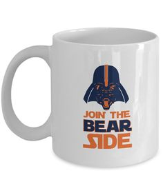 Join the Bear Side Chicago Football Coffee Mug