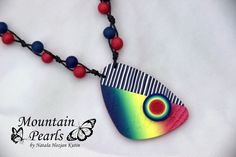 Polymer clay necklace, Mountain Pearls by Nataša Hozjan Kutin