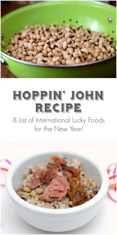 Hoppin' John recipe and List of International Lucky Foods to start the New Year!  BoulderLocavore.com