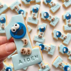 "117 Likes, 7 Comments - Sweet Avenue | Sydney (@sweetavenue.au) on Instagram: ""Aiden's Cookie Monster themed cookies for his first birthday"""