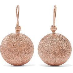 Carolina Bucci Mirador 18-karat rose gold earrings (1,940 CAD) ❤ liked on Polyvore featuring jewelry, earrings, rose gold, 18k rose gold jewelry, carolina bucci, rose gold jewellery, 18k jewelry and pink gold jewelry
