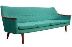 Swedish 1950s Teak Sofa