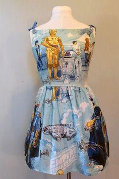 one of a kind star wars dress. via Etsy.