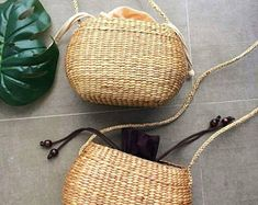 Small Crossbody Straw Bag / Christmas Gift / straw handbag / Summer Hand bag / straw tote / straw purse / seagrass bag / wicker bag