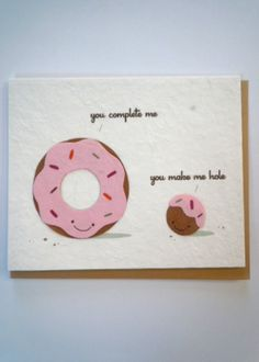 You Complete Me Greeting Card, Handmade in the Philippines of recycled paper