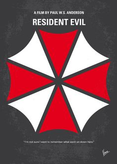 My RESIDENT EVIL minimal movie poster Art Print