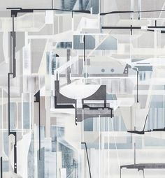 Substructure | From a unique collection of abstract paintings at https://www.1stdibs.com/art/paintings/abstract-paintings/