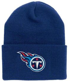 purchase cheap b0329 40d62 Tennessee Titans Cuffed Knit Hats Tennessee Titans Hat, Nfl Gear, Nfl  Jerseys, Caps