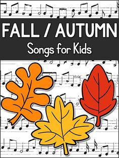 Fall / Autumn Songs for Kids, Pre-K, Preschool, Kindergarten   PreKinders
