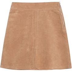 SEE BY CHLOÉ Jupe Tabacco // Leather skirt ($515) ❤ liked on Polyvore featuring skirts, mini skirts, bottoms, high waisted leather skirt, high-waist skirt, high-waisted skirts, sexy short skirts and high waisted mini skirt