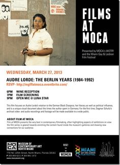 Free Miami Gay & Lesbian Film Festival screening of Audre Lorde documentary March 27 at MOCA