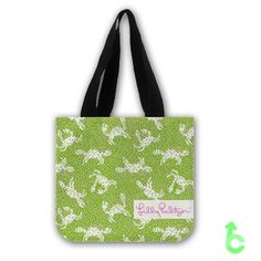 Cheap lilly pulitzer crabby Tote Bags