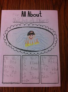 "B Retell/ Expository Text Using simple biographies in kindergarten to write ""All-Abouts"" (informational text) Kindergarten Language Arts, Teaching Language Arts, Kindergarten Literacy, Kindergarten Activities, Writing Activities, Expository Writing, Informational Writing, Kids Writing, Teaching Writing"
