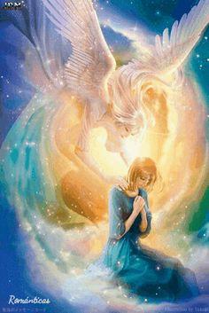 anime angel, faworki, anioły i demony, obrazy Anime Angel, Ange Anime, Angels Among Us, Angels And Demons, I Believe In Angels, Prophetic Art, Beautiful Fantasy Art, Beautiful Gif, Guardian Angels