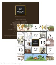 Amedei Tuscany - illustrations & graphics for a flyer