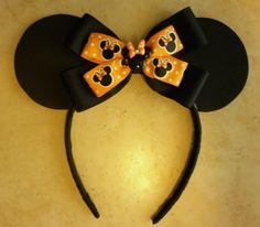 Halloween Inspired Minnie Mouse Ears Headband