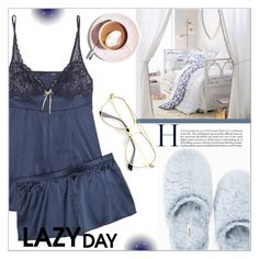 """Sleep In: Lazy Day"" by giada2017 ❤ liked on Polyvore featuring Elle Macpherson Intimates, Soma, PBteen, LazyDay and polyvorecontest"