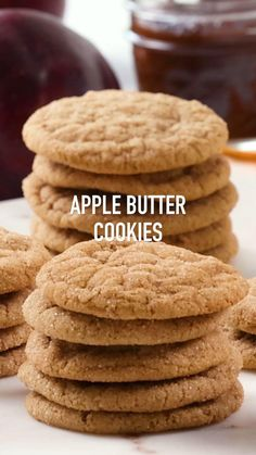 A cross between a #snickerdoodle and a #sugar #cookie, these #Apple #Butter Cookies are a delightful #Fall treat. We've baked the sweet & spicy flavor of apple butter directly into this #recipe. These soft and chewy cookies can be made with store-bought apple butter, or you can make your own with our homemade recipe. These sweet treats are the perfect back to school #snack and autumn #dessert. For more cookies, brownies and bar recipes visit www.dixiecrystals.com. #dixiecrystals #sugarcookie Fun Baking Recipes, Bar Recipes, Sweet Recipes, Apple Recipes Easy, Just Desserts, Delicious Desserts, Yummy Food, Fall Desserts, Fall Dessert Recipes