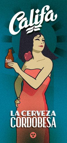 Cervezas Califa, lettering & sign painting on Behance