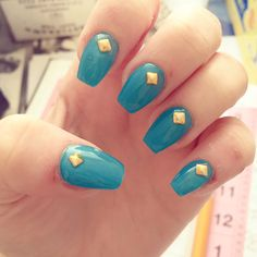 Blue and stud nails