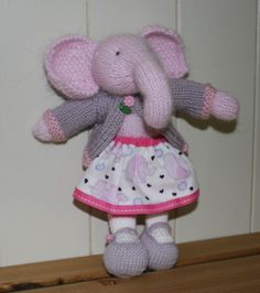 Elephant Hand knitted by Nodnook on Etsy