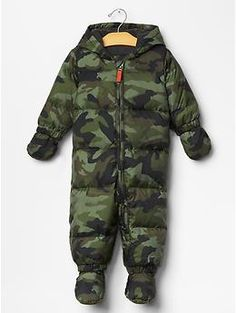 Warmest camo puffer snowsuit | Gap