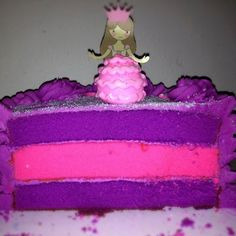 Pink and purple layered Princess Cake! (for Khiel's Purple Bday Extravaganza! Purple Birthday, 3rd Birthday, Birthday Parties, Cupcake Cakes, Cupcakes, Purple Themes, Cake Pops, The Dreamers, Amanda
