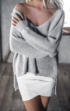 sweater knitted sweater oversized sweater grey