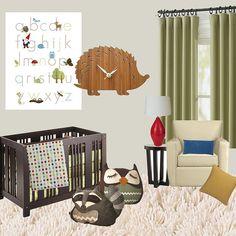 Mod Woodland Creature Nursery Idea Board by designsbyvanessa, via Flickr